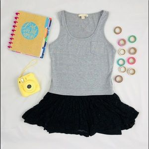 63eb12fca752 Grey Sleeveless Tutu Dress with Pocket in Medium